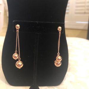 NWT Kate Spade Linear Ball earrings, rose gold